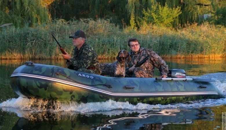 Резиновая лодка для охоты