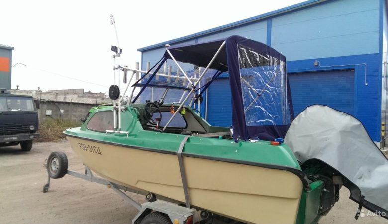 Транспортировка на прицепе лодки Ладога 2