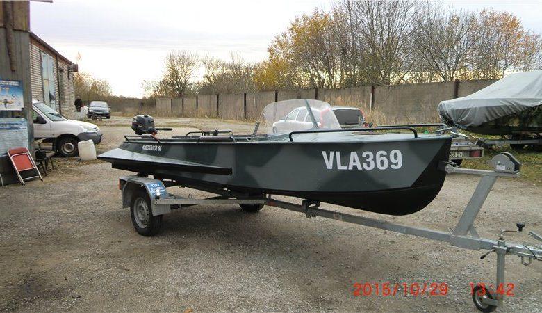 Перевозка лодки Казанка М на прицепе