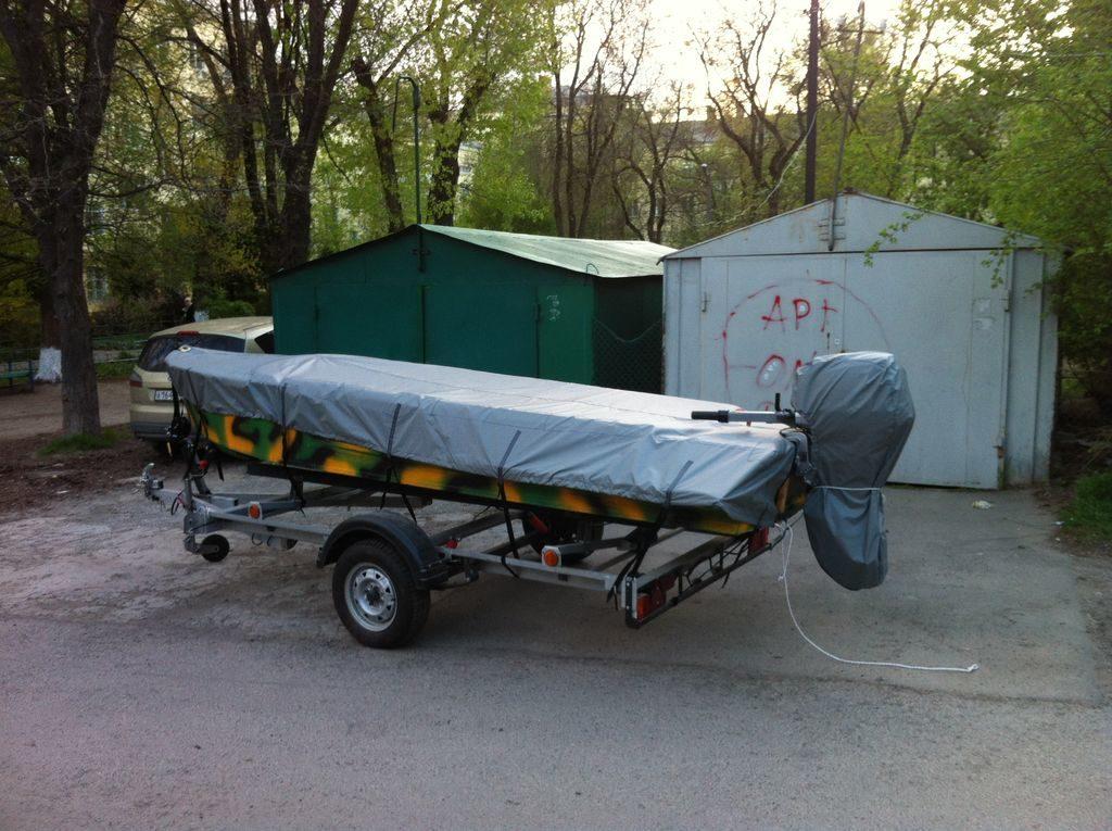 Транспортировочный тент на лодку Казанка М