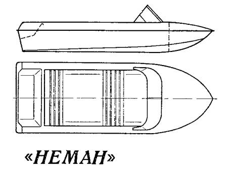схематический рисунок лодка Неман