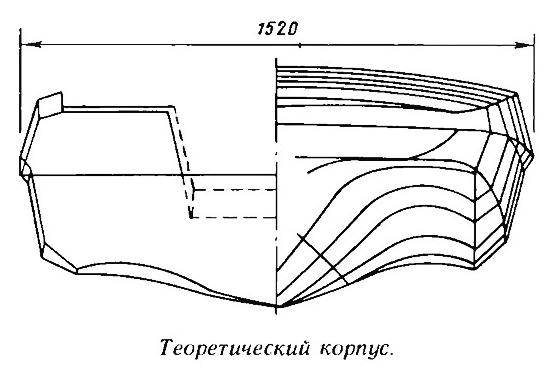 Схематический рисунок лодки обь 3