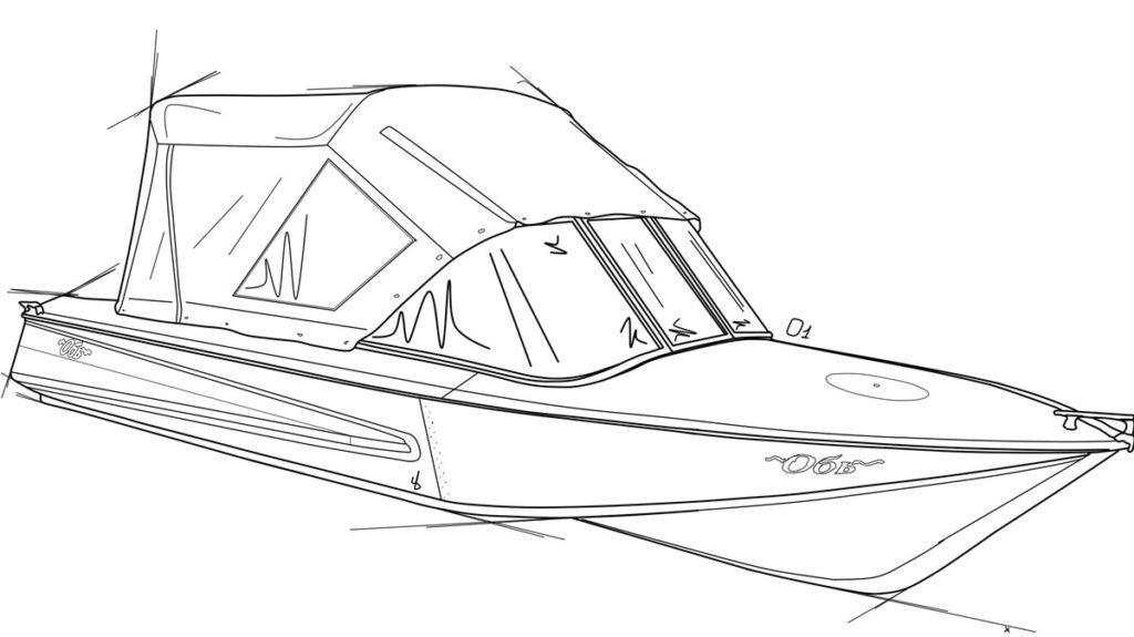 Лодка Обь схематический рисунок